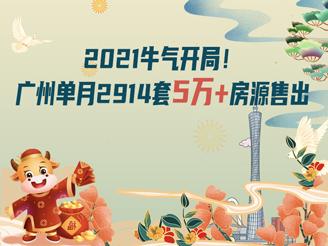 广州单月卖出2914套单价5万+房源